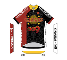 009 RE:CYBORG × Pearl Izumi Short Sleeved Jersey Gilmore Foundation Logo Ver. © 009 RE:CYBORG Production Committee