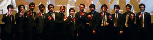 映画『009 RE:CYBORG』上映劇場 各劇場支配人くじ引き記念写真 © 「009 RE:CYBORG」製作委員会